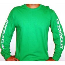 Sporasub Scuba Green Long Sleeve Shirt 100% Cotton Men's T-Shirt All Sizes
