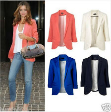12 colors ! Womens Fashion Candy Color Seventh Volume Sleeve Jacket Blazer