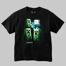 MINECRAFT Size S, M, or Large Black CREEPER T-Shirt, MOJANG, JINX, NEW