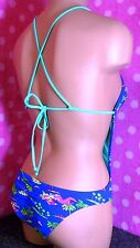 NWT HOLLISTER Blue Sunfriders Palm Cut-out Show-off One-piece Monokini XS S M