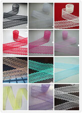 Beautiful! 10/20/50/100 yards embroidery lace ribbon colors can be selected