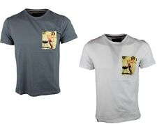 MENS BRANDED EGAN TS BBQ SHORT SLEEVE CASUAL T-SHIRTS IN 2 COLOURS