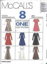 8518 UNCUT Vintage McCalls SEWING Pattern Semi Fitted Dress 8 Looks FF OOP NEW