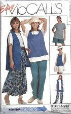 UNCUT Vintage McCalls Sewing Pattern Vest Top Skirt Pants Short 7606 OOP SEW FF