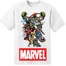 MARVEL COMICS T SHIRT IRON MAN SPIDERMAN THOR WOLVERINE SPIDERMAN (S - 3XL)