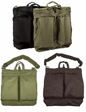 GI Type Flyers Helmet Bags With Or Without Shoulder Straps - Olive Drab & Black