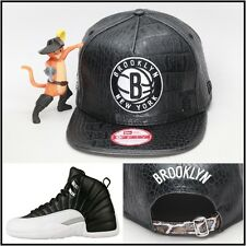 New Era Brooklyn Nets Custom Snakeskin Strapback Hat Jordan Retro 12 XII Playoff