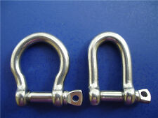 10-100 Stainless Steel Shackles 5mm Bow Or D Style For Paracord Bracelets