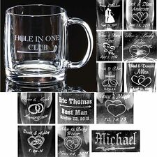 Personalized 13oz Glass Coffee Beer Mugs Custom Groomsmen Bridesmaid Gifts Gift