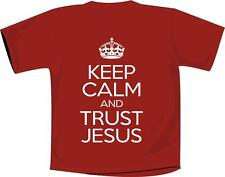 Keep Calm And Trust Jesus T Shirt Christian Red