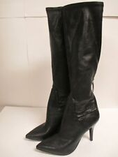 "Nine West ""Fairvinda"" Knee High Boots Black Synthetic New with Box and NWOB"