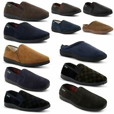 New Mens Dunlop Comfortable Soft Slip On Slippers Indoor Shoes Sizes UK 6-12
