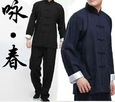 Chinese Wing Chun Kung Fu Suits Martial Arts Tai Chi Uniform Bruce Lee Costume