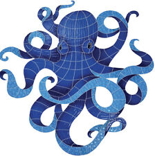 """Mosaic Octopus for Swimming Pool or Wall - Large 38"""" or Small 13""""- Free Shipping"""