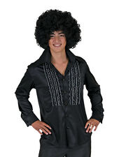 Mens Black Saturday Night Disco Shirt Halloween Costume