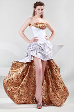 Luxury New Sexy Wild Leopard Formal Ball Gown Evening Prom Party High-Low Dress