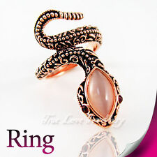 Beautiful 18K Rose Gold Plated Snake Ring RP9564 Free Gift Pouch