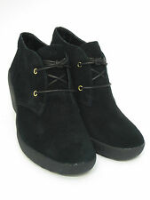 Ladies Clarks Ankle Boots Nice Melody Black Suede
