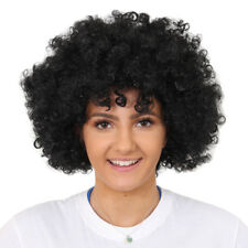 ADULTS BLACK AFRO WIG 60'S 70'S DISCO HIPPY FANCY DRESS STAG PARTY CLOWN HAIR
