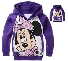 New Lovely Minnie Mouse Kids Girls Cute Long Sleeve Cute Hoodie Aged 2-8 Years