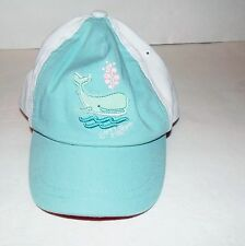 NEW WITH TAGS TOMMY HILFIGER INFANT GIRLS BASEBALL TYPE HAT/CAP WHALE BLUE WHITE