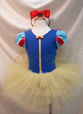 Holloween Snow White Princess Girls Costume Dress Up Ballet Tutu+Headband SZ 2-7