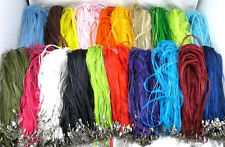 20Pcs Variety of Colors Ribbon Voile Necklace Cord For Necklace Chain 46CM