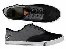 BRAND NEW MENS VOI JEANS FIERY BLACK-CHAMBRAY PLIMSOLLS CANVAS FOOTWEAR 6 TO 11
