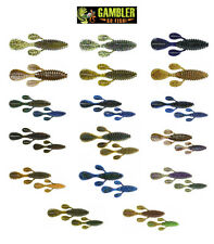 "GAMBLER UGLY OTTER CREATURE BAITS 4""  7 PACK choose colors"