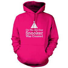 On The 8th Day Snooker Was Created - Unisex Hoodie - 9 Colours - Pool - 8 Ball