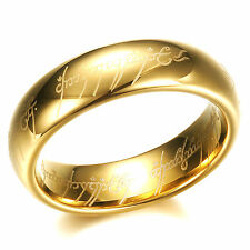 Fashion Hot-Sell The Lord Of The Rings 18K Gold Plated Tungsten Steel Rings 194