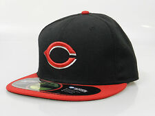 New Era Men's Fitted Hat 59FIFTY MLB Cincinnati Reds Black Red