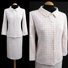LK BENNETT SKIRT SUIT SIZE 10 12 WHITE 50S SWING JACKET WOMENS LADIES WOMAN
