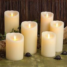 Ivory Reallite Real Genuine Wax Flicker Flameless LED Candle Moves Randomly
