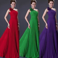 IN STOCK Sexy Long Chiffon Evening Formal Party Ball Gown Prom Bridesmaid Dress