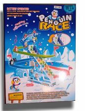 Classic Slide Racing Game Music Racing and Elevator Track Penguin & Friends Toy