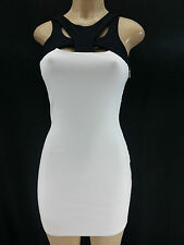 NEW Black White BEBE Sexy Bodycon Fitted Cut Out Dress Club Party XXS S M