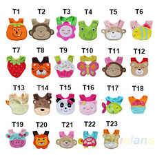 23 Styles Cute 3D Animal Bibs Lunch Cartoon Soft Towel for Baby Kids Infant BD5U