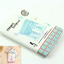 Retro Eiffel Tower Triumphal Arch Canvas Bank Cards Credit Bag Case Holders New
