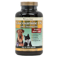 NaturVet GLUCOSAMINE Double Strength CHONDROITIN TR Dog Joints CHOOSE SIZE