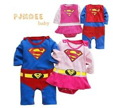 New Baby Boy Girl Super Hero Costume Romper  Outfit  size 0.1.2
