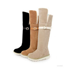 New Style Women's Low Heel Knee-High Boots Winter Boots US Size 4-7.5