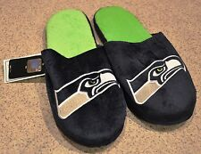 Seattle Seahawks Slippers Team Colors Logo NEW NFL Two Toned House shoes! SL13
