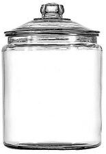 Anchor Hocking Glass Coffee Cookie Biscuit Jar Container Storage With Glass Lid