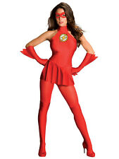 Adult The Flash Lady Fancy Dress Up Costume DC Comic Hero Ladies Womens Female