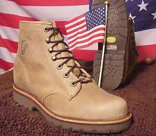 Chippewa Made In The USA Classic Tan Rodeo Leather Upper Vibram Sole Boot 25262