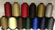92 (Tex 90) Mid Weight Bonded Nylon/Poly Upholstery Leather Thread (8oz)