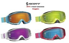 2014 Scott Tyrant Goggles Tearoff Snowboarding Sking Dirtbike Racing Riding Mens