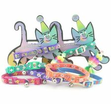 "HAMILTON 12"" x 3/8"" Snag Proof Safety Cat Collar w/ Cat Toy, Various Colors"