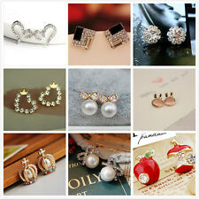 FREE Fashion Women Girls Hot Cute Sweet Crystal Pearl Earring Ear Stud